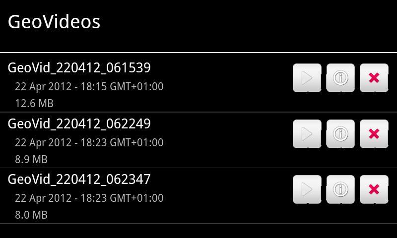 GeoCam Pro - screenshot