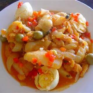 Puerto Rican Codfish Stew.
