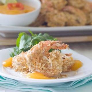 Paleo Coconut Shrimp with Mango Puree.