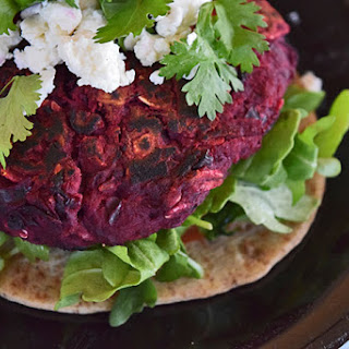 Black Bean and Beet Burgers
