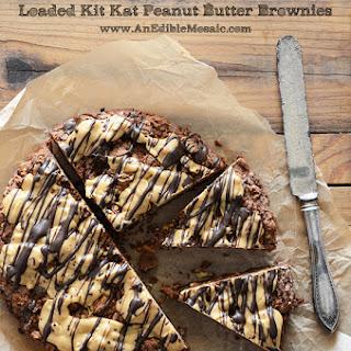 Loaded Kit Kat Peanut Butter Brownies