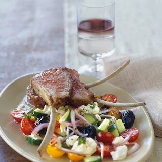 Roasted Lamb Chops with Greek Salad