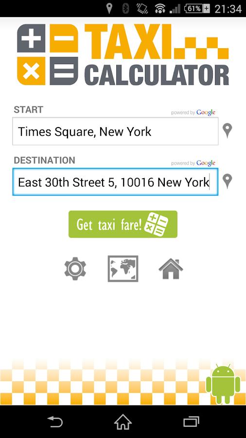 Taxi-Calculator - screenshot