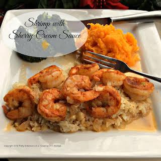 Shrimp with Sherry Cream Sauce.