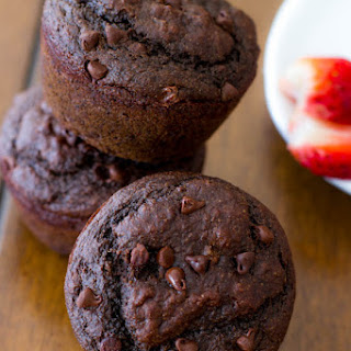 Skinny Double Chocolate Chip Muffins.