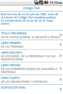 Código Civil - screenshot thumbnail