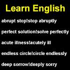 Adjetivos e advérbios icon