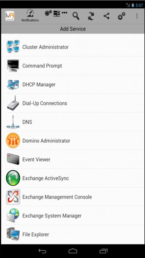 Solarwinds Mobile Admin Client- screenshot