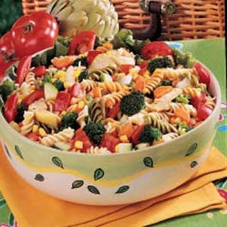 Rainbow Pasta Salad.