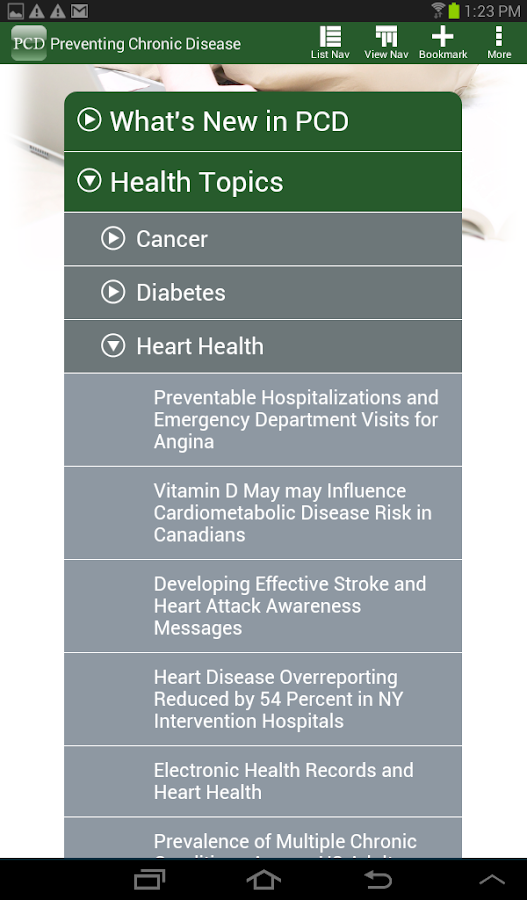 Preventing Chronic Disease-PCD- screenshot