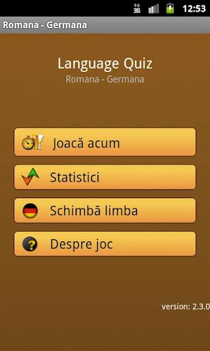 Lanquage Quiz: Romanian-German