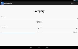 Screenshot of Metric Converter