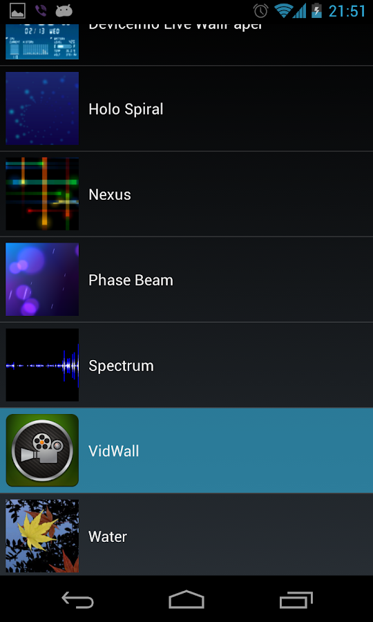 VidWall - Video Live Wallpaper- screenshot