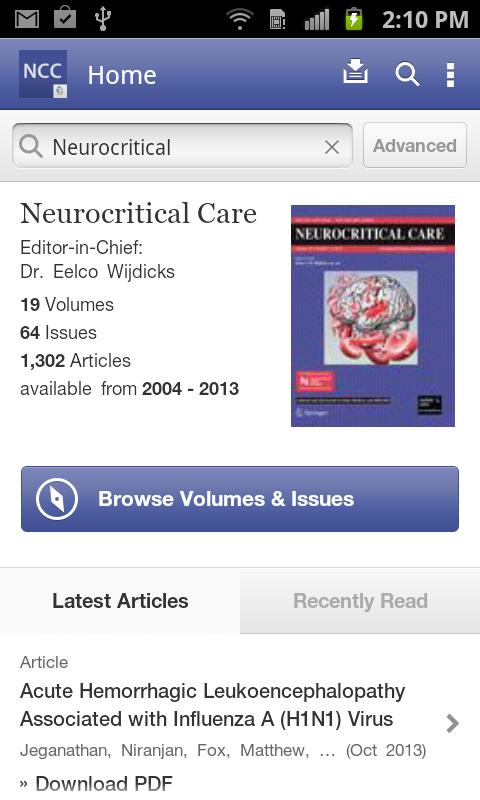 Neurocritical Care - screenshot