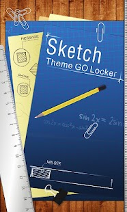 Sketch GO Locker Theme - screenshot thumbnail