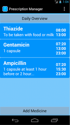 Prescription Manager Free