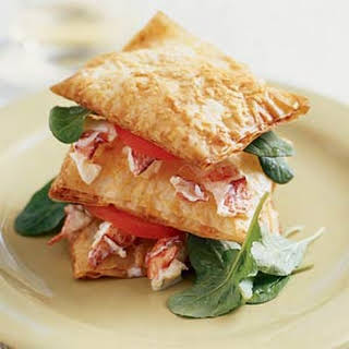 Lobster Salad Napoleons.