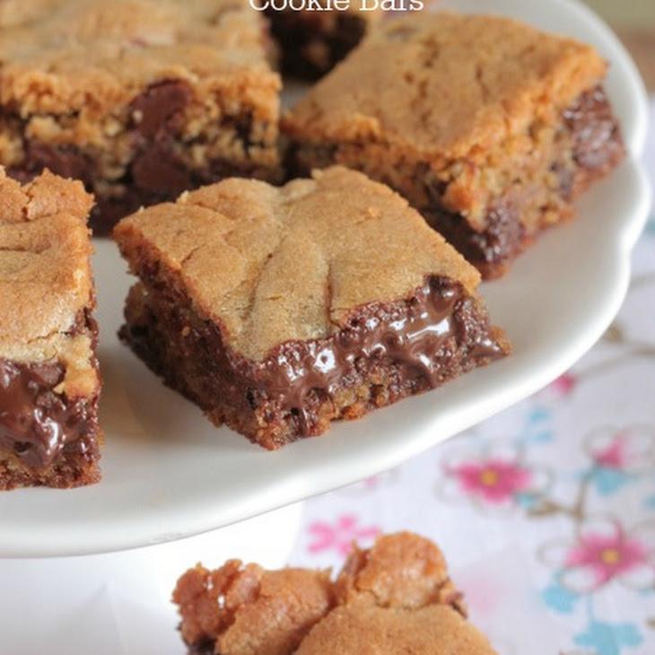 Vanilla Malted Chocolate Chip Cookie Bars