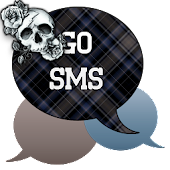 GO SMS - Rose Skulls 5