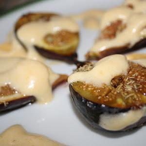Figs with Zabaglione (Italian Custard)