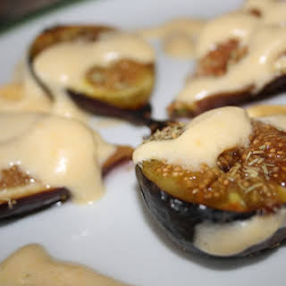 Figs with Zabaglione (Italian Custard).
