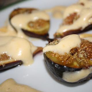 Figs with Zabaglione (Italian Custard).