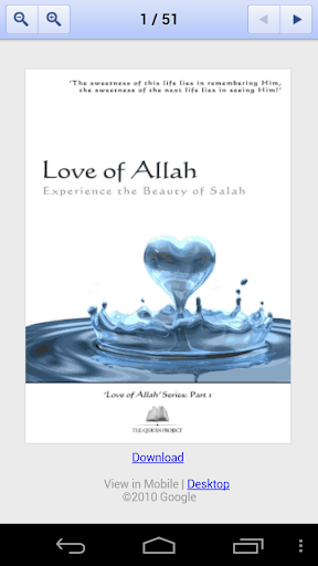 Love of Allah Salah Book