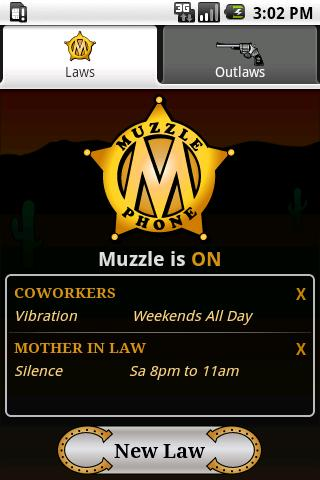 MuzzlePhone - screenshot