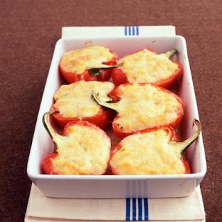 Polenta-Stuffed Peppers.