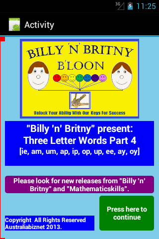 Three Letter Words Part 4 Free- screenshot