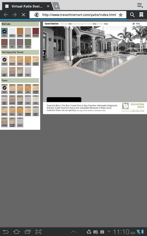 Travertine Mart Patio Designer- screenshot