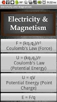 Screenshot of Electricity & Magnetism
