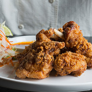 Duck Fat-Fried Chicken with Spicy Slaw
