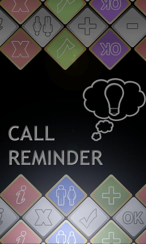 Call Reminder Plus - screenshot