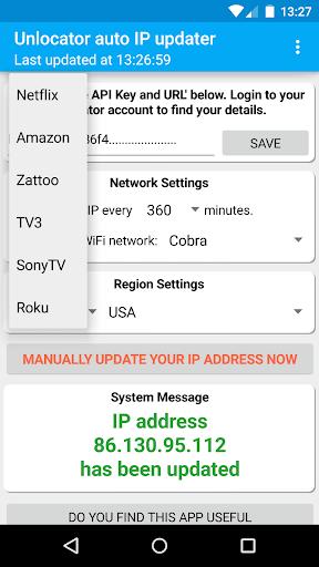 Unlocator auto IP updater