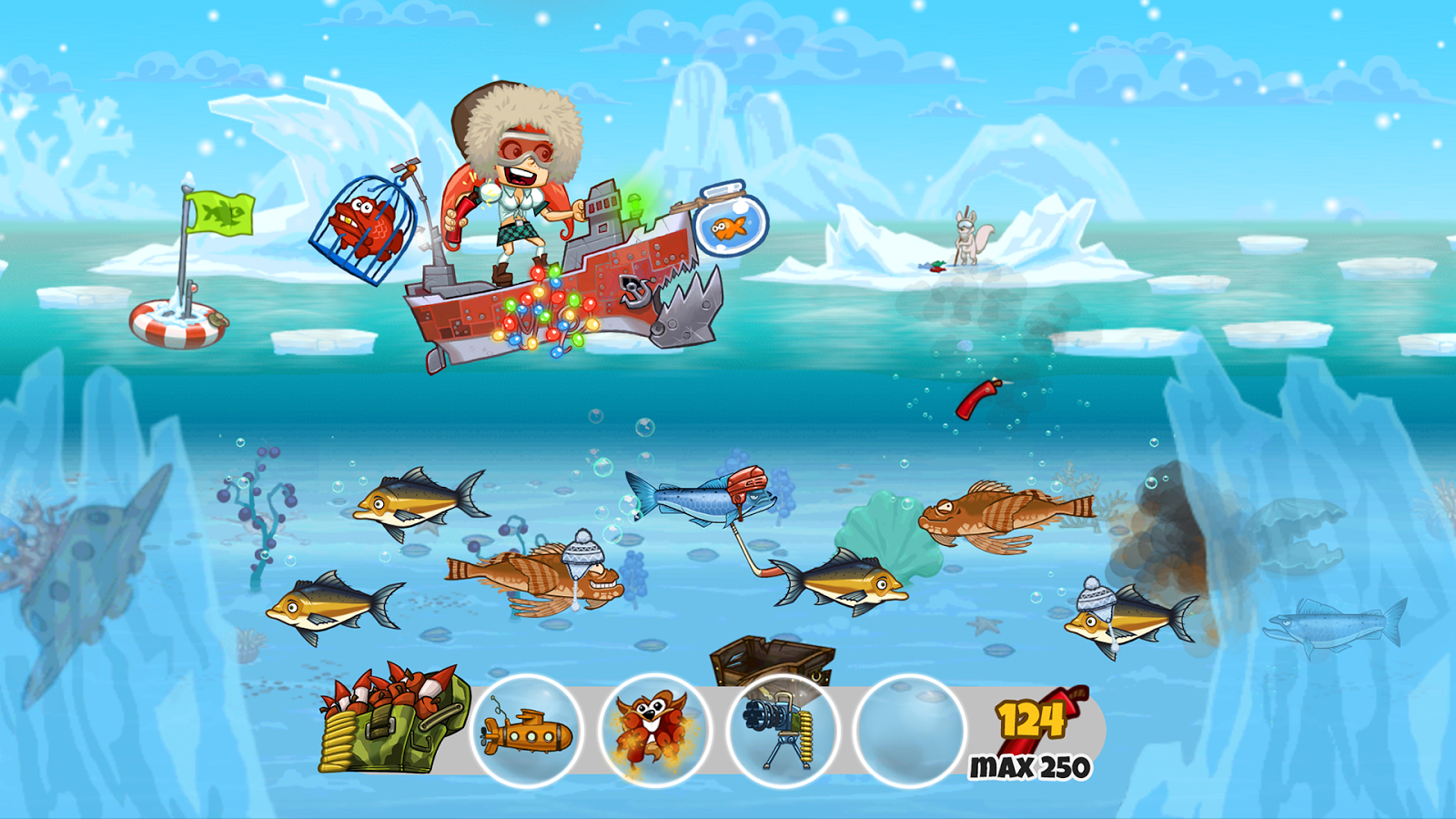 Dynamite fishing world games android apps on google play for Fish world games