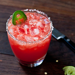 Jalapeño and Watermelon Margaritas