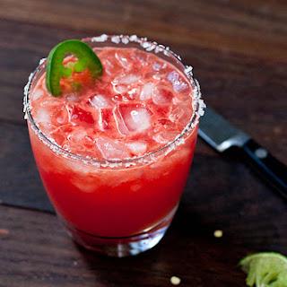 Jalapeño and Watermelon Margaritas.