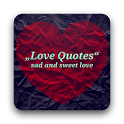 Love Quotes sad and sweet love icon