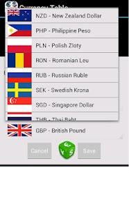 Měna Tabulka (Ad-Free) - náhled