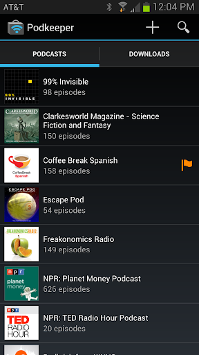 Podkeeper podcast player