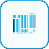 Blue Barcode go launcher theme
