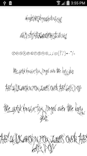 Fonts for FlipFont Tattoo - screenshot thumbnail
