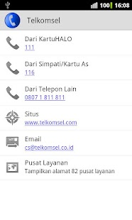 Call Center Selular Indonesia - screenshot thumbnail