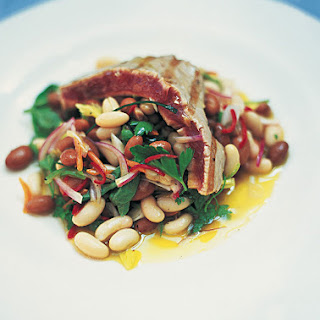 Chargrilled Tuna With Dressed Beans & Loadsa Herbs