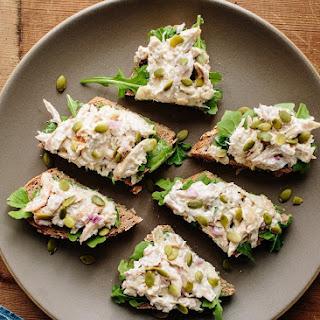 Open-Faced Chicken Salad Sandwich.