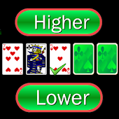 Higher or Lower card game