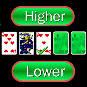 Higher or Lower card game for PC and MAC