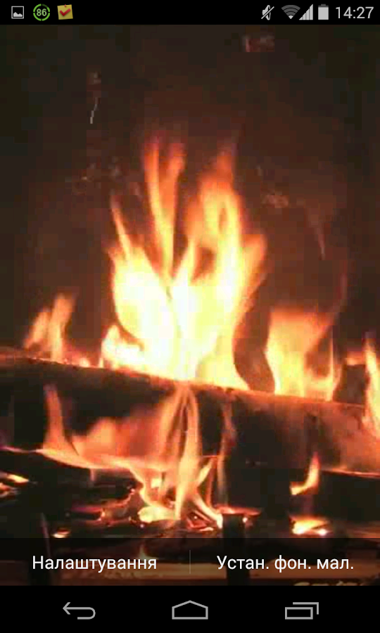 Fireplace Video Live Wallpaper - screenshot