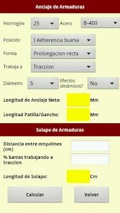 Utilidades hormigon, acero EHE: miniatura de captura de pantalla